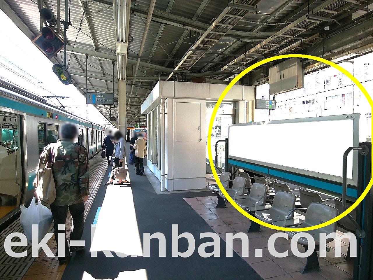 JR 根岸駅 ホーム№B01&B02