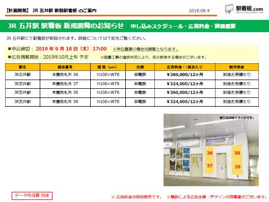 【計画開発】JR五井駅新設駅看板のご案内