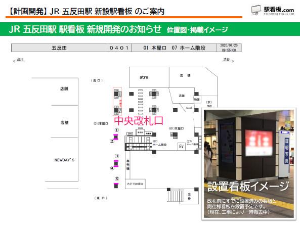 【計画開発】JR 五反田駅 新設駅看板のご案内(2)