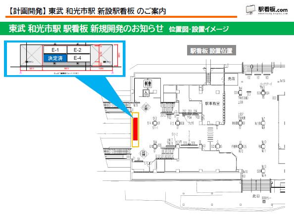 【計画開発】 東武 和光市駅 新設駅看板のご案内(2)