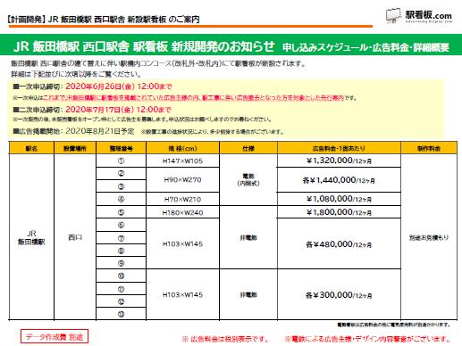 【計画開発】JR飯田橋駅 新設駅看板のご案内(1)